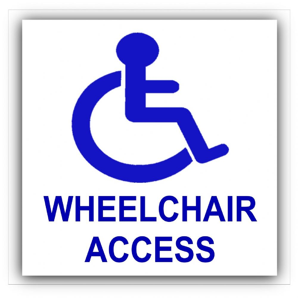 1 X Disabled Wheelchair Access Sticker Disability Sign
